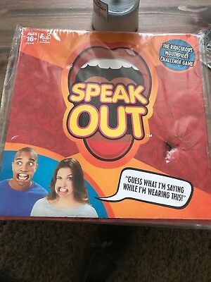 Speak Out Game Board Party Mouth Piece Challenge Family Kids Fun Xmas Gift