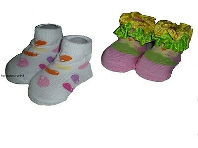 Girl's Infant Easter Jelly Beans & Chick Sock Set of 2 Size 0-12 Months