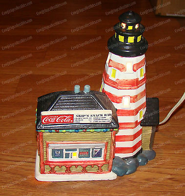 Skip's Snack Bar Lighthouse (Village) Coca-Cola Town Square Collection, 1995