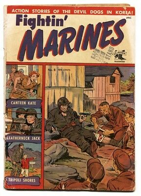 Fightin' Marines #8 Golden-Age 1952-St John-Matt Baker-Canteen Kate-G+