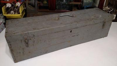 Antique Rustic Wood Carpenters Tool Box