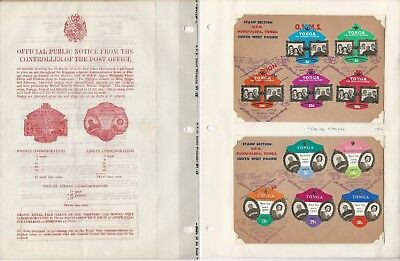Tonga Stamp Collection, Royal Visit 1970, Mint & Covers, 6 Pages