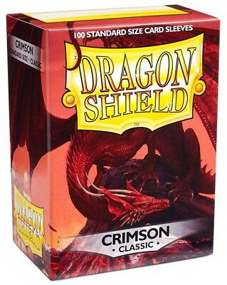 Card Supplies Dragon Shield Crimson Classic Standard Card Sleeves [100 Ct]