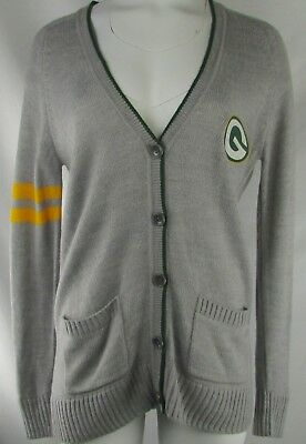 d66d7880a GREEN BAY PACKERS Touch by Alyssa Milano Women's Sweater Gray NFL S ...