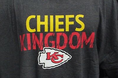 46b9f61f KANSAS CITY CHIEFS Mens Big & Tall Charcoal Majestic T Shirt NFL