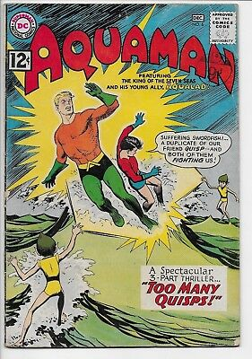 "Aquaman #6 Nov-Dec 1962 DC Comics ""Too Many Quisps!"" FN- Off-white pages"