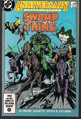 Swamp Thing #50 Dc 07/86 1St Appear Justice League Dark Deadman+ Alan Moore Nm-