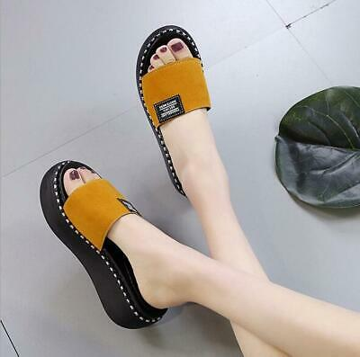 bb005998d02 Womens Beach Shoes Platform Slippers Wedge High Heel Flip Flops Sandals di