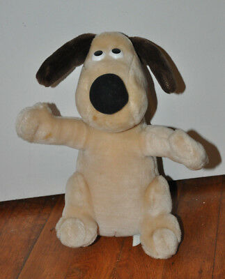 """Wallace and Gromit 10"""" GROMIT Plush Toy Aardman animation Dog 1989"""