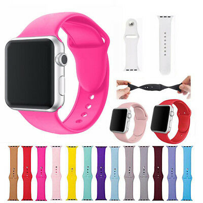 39 Colors Replacement Silicone Sport Band Strap For Apple Watch 42mm 38mm 42 38