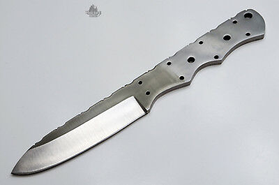 High Carbon 1095 Steel Drop Point Knife Blank Blade Skinner Hunting 1095HC New
