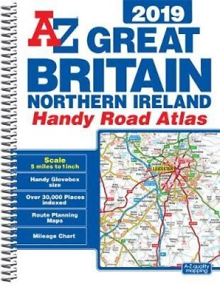 Great Britain Handy Road Atlas 2019 (A5 Spiral) 9781782572121