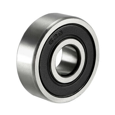 Deep Groove Ball Bearing 628RS Double Sealed, 8mm x 24mm x 8mm Chrome Steel