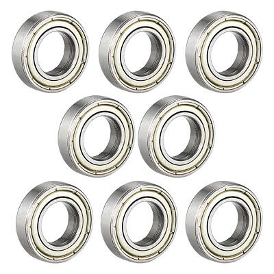10Pcs 6800Z 10 x 19 x 5mm Single Row Shielded Deep Groove Ball Bearing