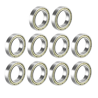 Deep Groove Ball Bearing 6802Z Double Sealed, 15mmx24mmx5mm Carbon Steel 10Pcs