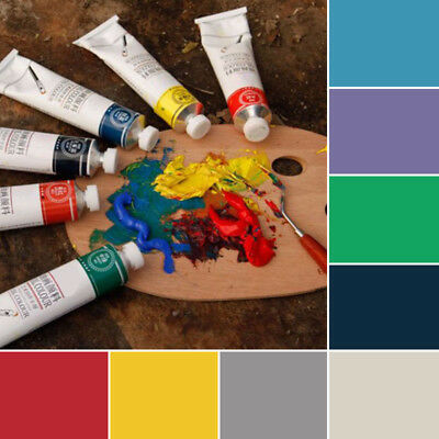 Crafts Oil Paint 50ml Tubes Artist Art Painting Supplies 10 Colors Replacement