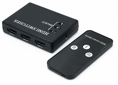 3 Port HDMI Switch Switcher Splitter for HDTV HD 1080P PS3