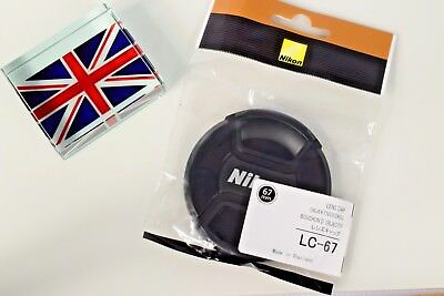 NEW IN BAG GENUINE ORIGINAL NIKON LC-67 67mm PINCH TYPE LENS CAP UK SUPPLIER