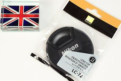 NEW IN BAG GENUINE ORIGINAL NIKON LC-72 72mm PINCH TYPE LENS CAP UK SUPPLIER