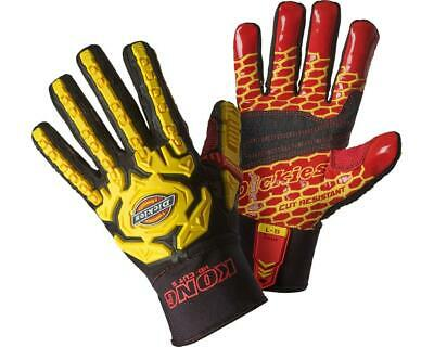 Dickies Mens KONG Heavy Duty CUT RESISTANT LEVEL 5 Impact Workwear Gloves