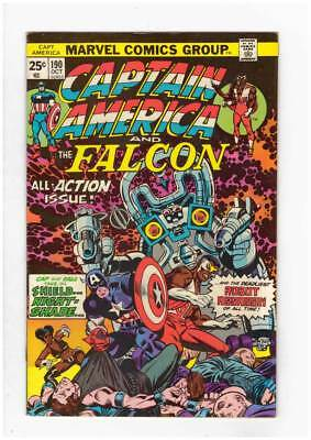 Captain America # 190 Nightshade is Deadlier 2nd Time ! grade 8.0 scarce book !!