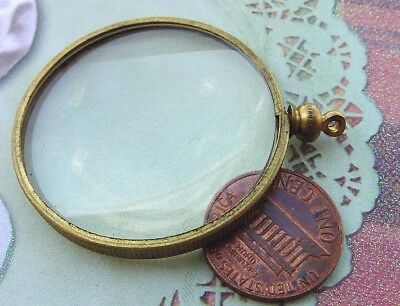 Vintage 39mm Lucite Magnifying Glass Pendant Charm