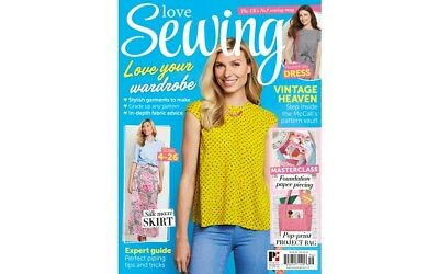 Love Sewing Issue 56 Magazine With Free Mccalls 4 Styles Of Skirt Patterns 2018