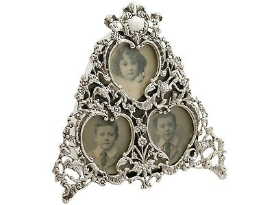 Antique Victorian Sterling Silver Photograph Frame London 1900