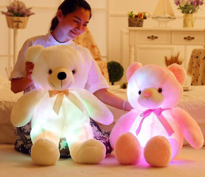 50cm Creative Light Up LED Teddy Bear Stuffed Animals colorful Gift For Kids