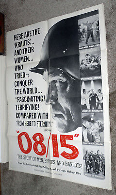 08/15 original 1954 WW2 one sheet movie poster NAZIS/JOACHIM FUCHSBERGER