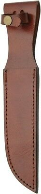 """Sheaths SH1163 Leather Sheath Brown Fits Up To 7"""" Fixed Blade"""