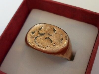 A Genuine,detector Find,medieval/byzantine Ae Ring.polished,wearable.