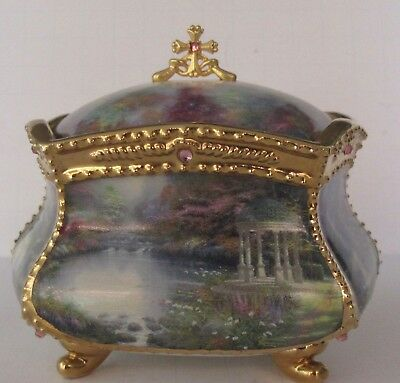 Thomas Kinkade Ardleigh Elliott Porcelain Music Box 2003 You'll Never Walk Alone