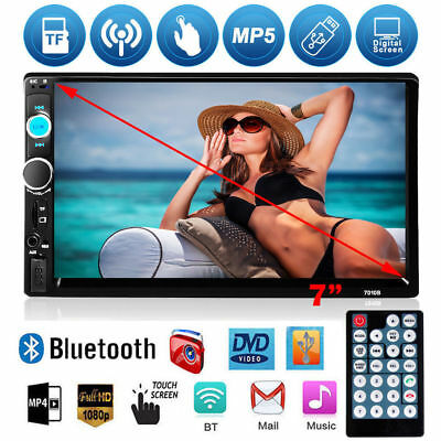 "7"" HD Double 2Din Car Stereo Radio FM/MP5 Player In-Dash/TF/USB Remote Controler"