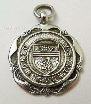 Vintage 1948 Solid Silver Watch Fob Medal Devon County Football Assoc