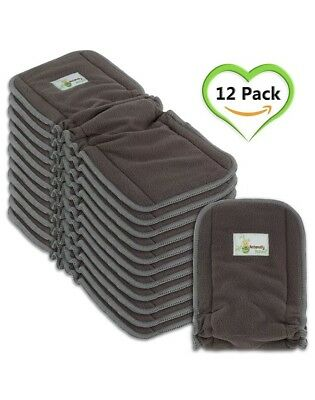 12 NEW Naturally Natures Cloth Diaper Inserts 5 Layer insert Charcoal Bamboo