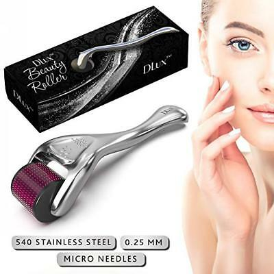 TITANIUM 540 Microneedle Derma Roller for Face Hair Acne -W/Protective Kit SET