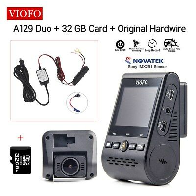 Viofo A129 Duo Front & Rear PIP Wifi GPS Mini Car DVR + 32G Card + Hard Wire Kit