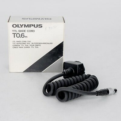 Olympus TTL Shoe Cord T0.6m (2') - Off-Camera TTL Sync Cord for T20, T32 and T45