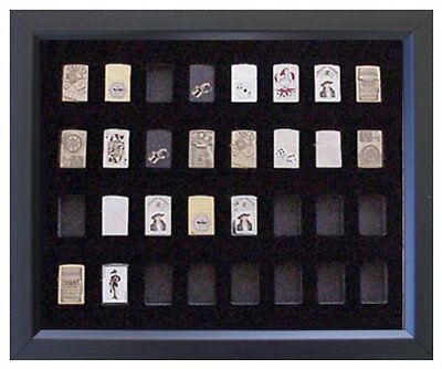 16x20 BLACK DISPLAY FRAME FOR 32 ZIPPO LIGHTERS (NOT INCLUDED)