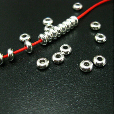 Wholesale 100Pcs 5mm Silver Metal Round Spacer Beads DIY Craft Jewelry Making C