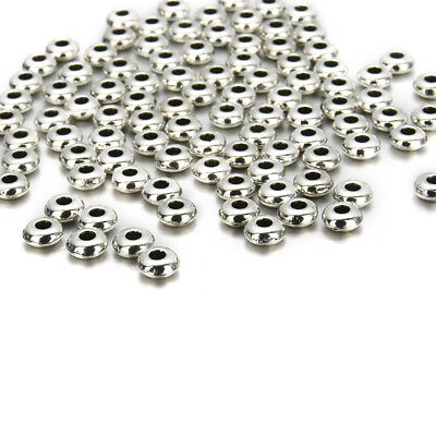 100Pcs 5mm Silver Metal Round Spacer Beads Jewelry Making DIY Craft Wholesale C