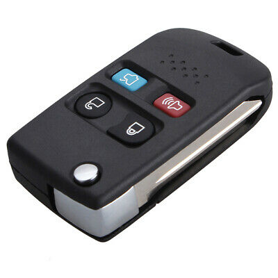 1Pc 4 Button Flip Remote Key Fob Case Shell for Ford Lincoln Mercury