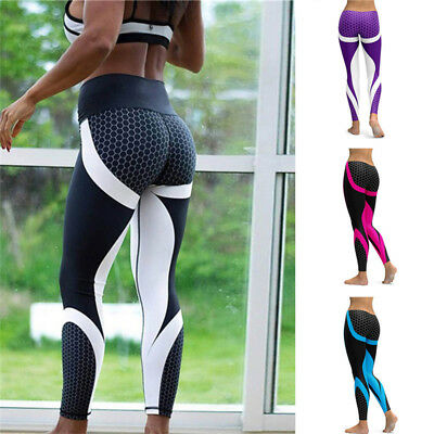 Sport Women's Compression Fitness Leggings Running Yoga Gym Pants Workout Wear