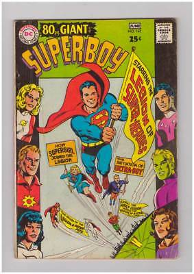 Superboy # 147  80 page Giant Legion issue grade 4.5 scarce book !!