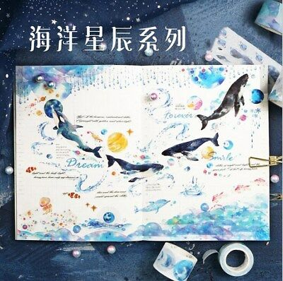 Ocean Starry Decoration Paper Tape Diary decoration Album stickers crafts
