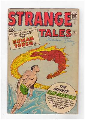 Strange Tales # 107  Human Torch vs Sub-Mariner  grade 4.0  scarce book !!