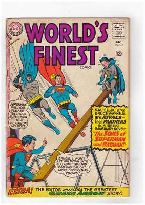 Worlds Finest Comics # 154 The Sons of Superman and Batman ! grade 2.5 scarce !!