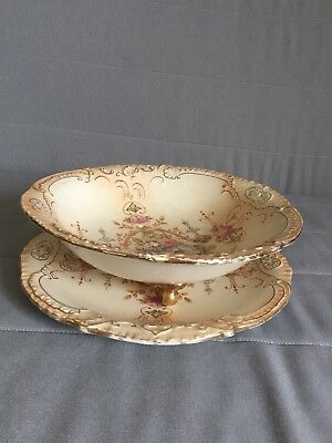 Crown Devon Fieldings blush Salad Drainer and Matching Plate Great Condition