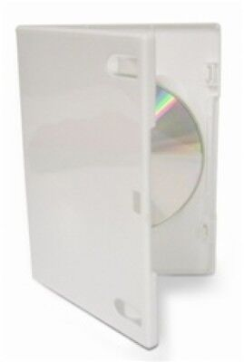 400 PREMIUM STANDARD Solid White Color Single DVD Cases (Professional Use)